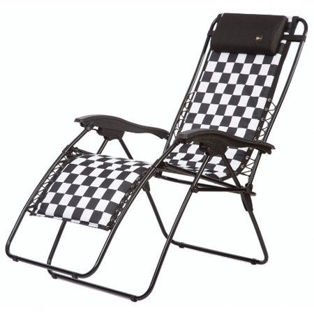 Faulkner 48969 Malibu Style Checkered Flag Padded Recliner With Padded Armrests,