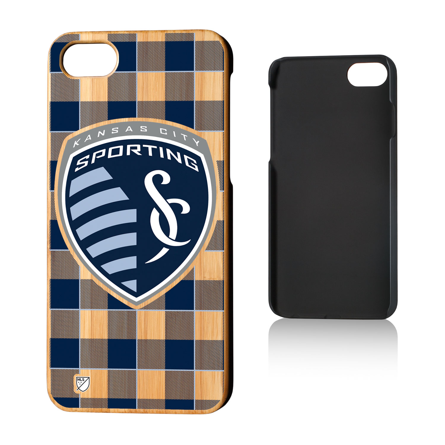 Sporting Kansas City SPORTING Plaid Bamboo Case for iPhone 8 / 7