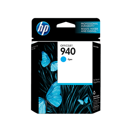 HP 940 (C4903AN) Cyan Original Ink Cartridge (900 Yield)