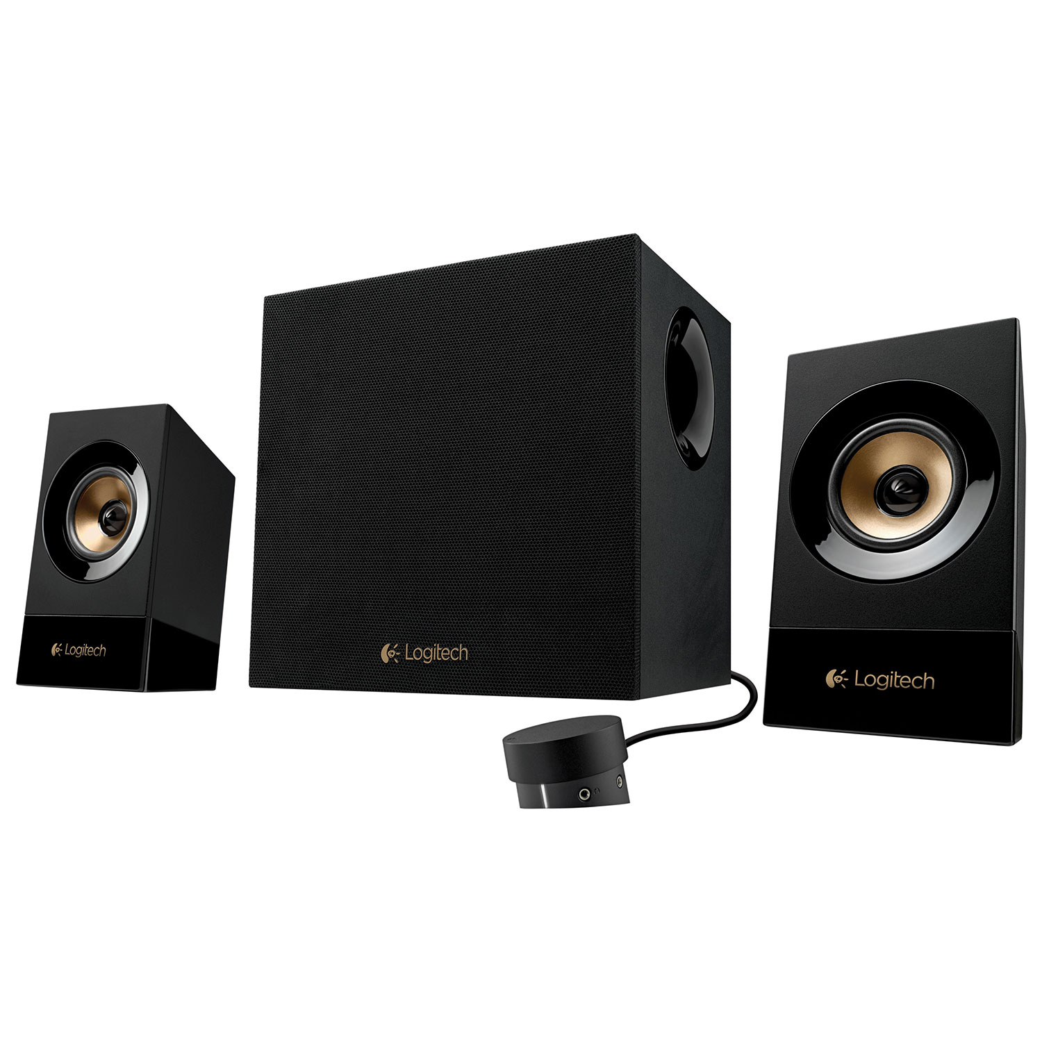 Refurbished Logitech Z533 3 Piece 2.1 Multimedia Speaker System 3.5mm Jack - 980-001053