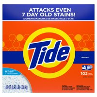 Tide Original 102 Loads, Powder Laundry Detergent, 143 oz