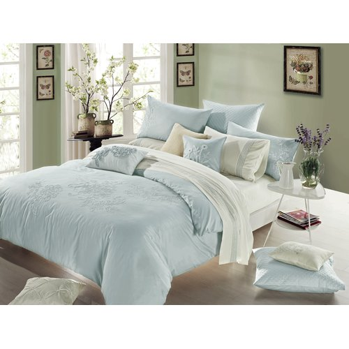 Melange Home 3 Piece Reversible Duvet Cover Set