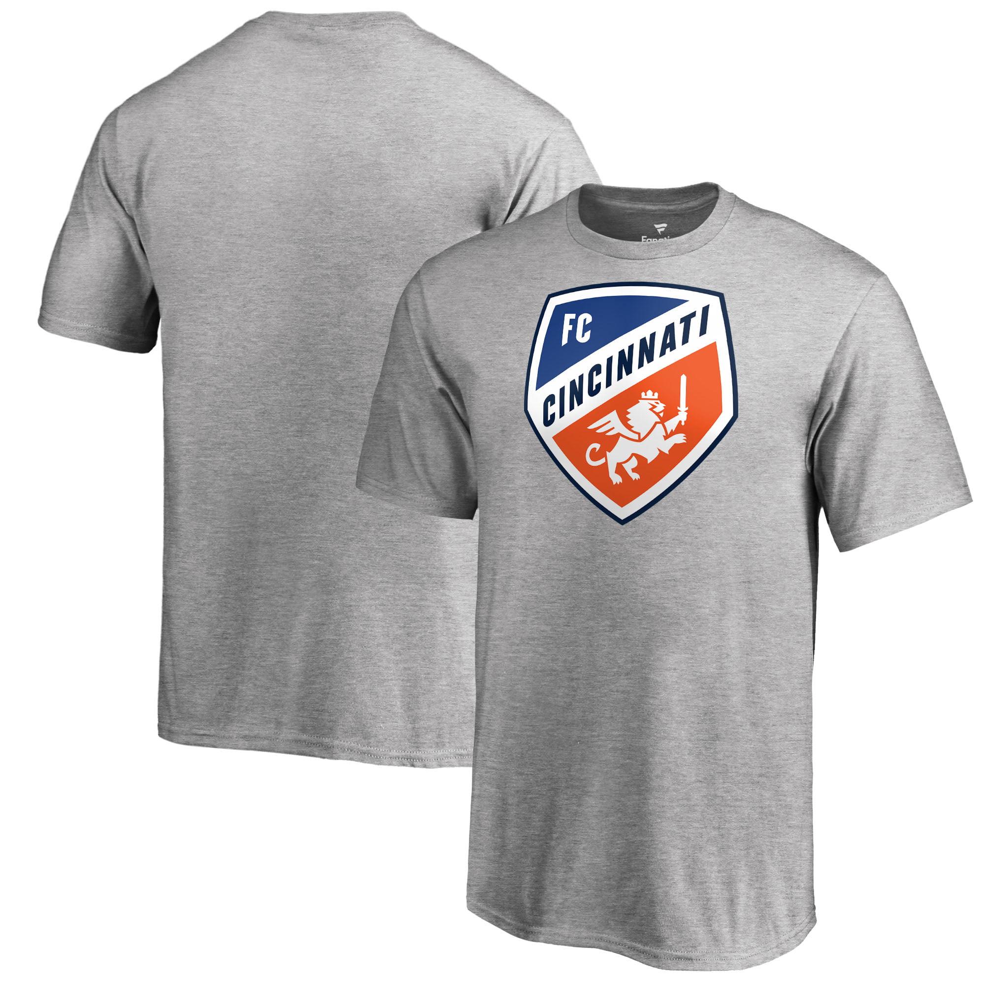 FC Cincinnati Fanatics Branded Youth Primary Logo T-Shirt - Heather Gray