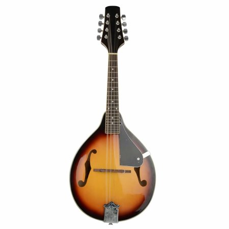 A Style Electric Acoustic Mandolin Dark Violin Sunburst with Guard