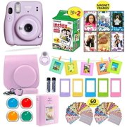 Fujifilm Instax Mini 11 Instant Camera Lilac Purple + Carrying Case + Fuji Instax Film Value Pack (20 Sheets) Accessories Bundle, Color Filters, Photo Album, Assorted Frames