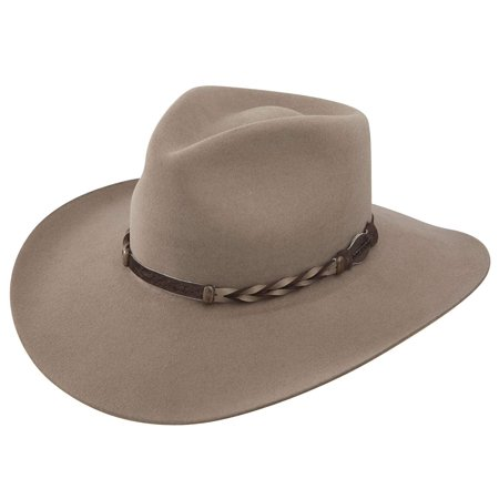 Stetson Men's 4X Drifter Buffalo Felt Pinch Front Cowboy Hat Stone 6 7/8 ()