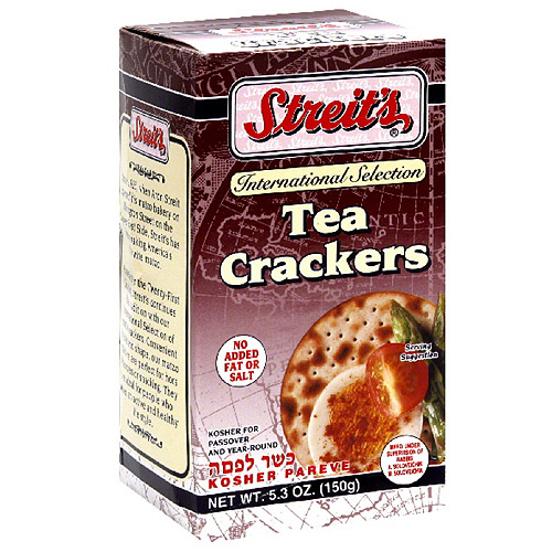 Streit's Tea Crackers, 5.3 oz, (Pack of 12)