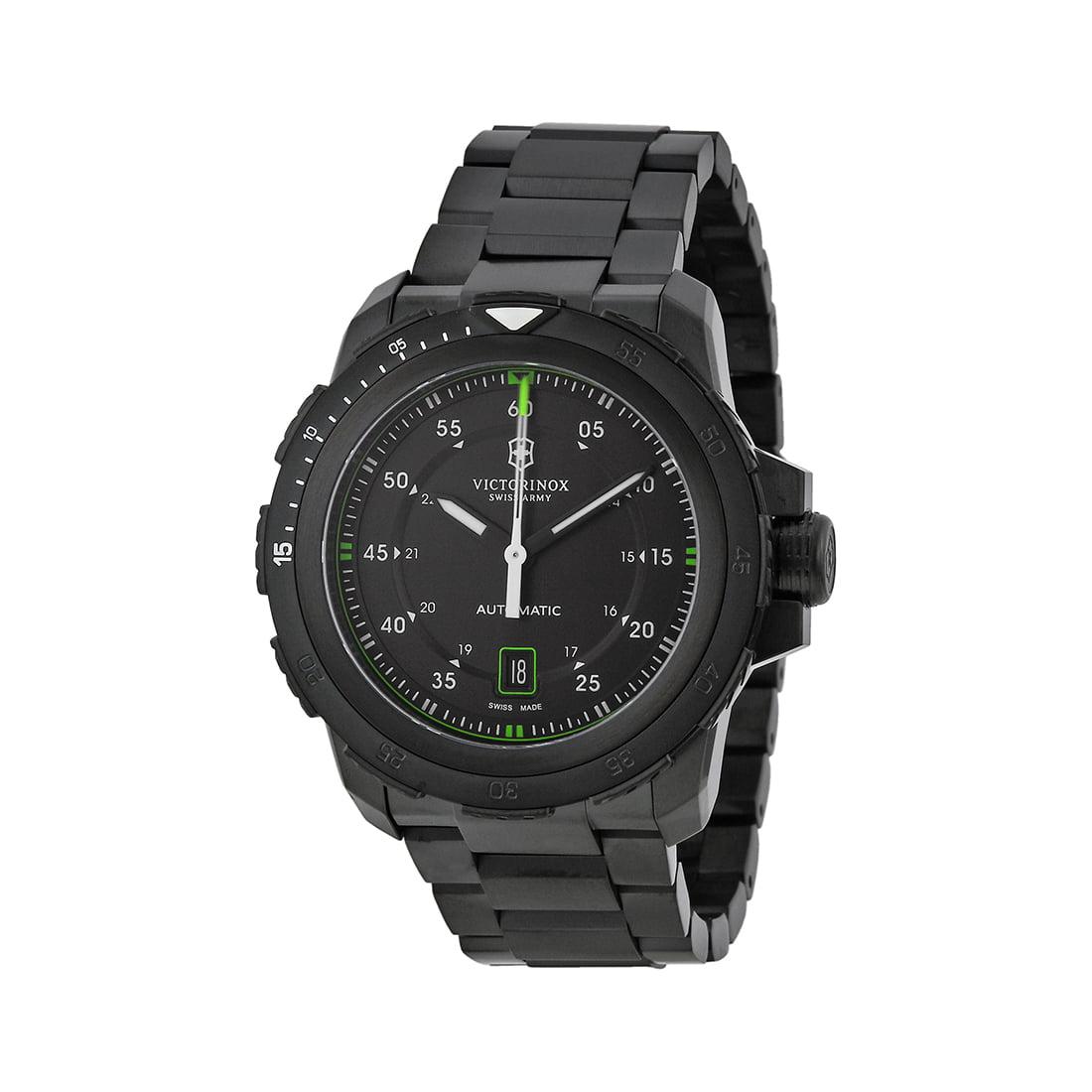 Swiss Army Men's Watch Alpnach Mechanical Black Dial Ion-Plated Watch 241684 by Victorinox