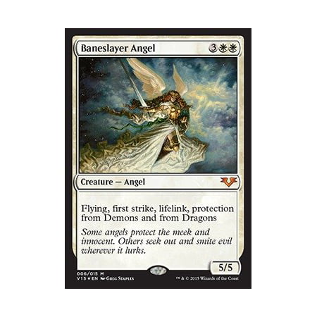 Magic Gathering Singles - - Baneslayer Angel - From the Vault: Angels - Foil, A single individual card from the Magic: the Gathering (MTG) trading and collectible card.., By Magic: the Gathering