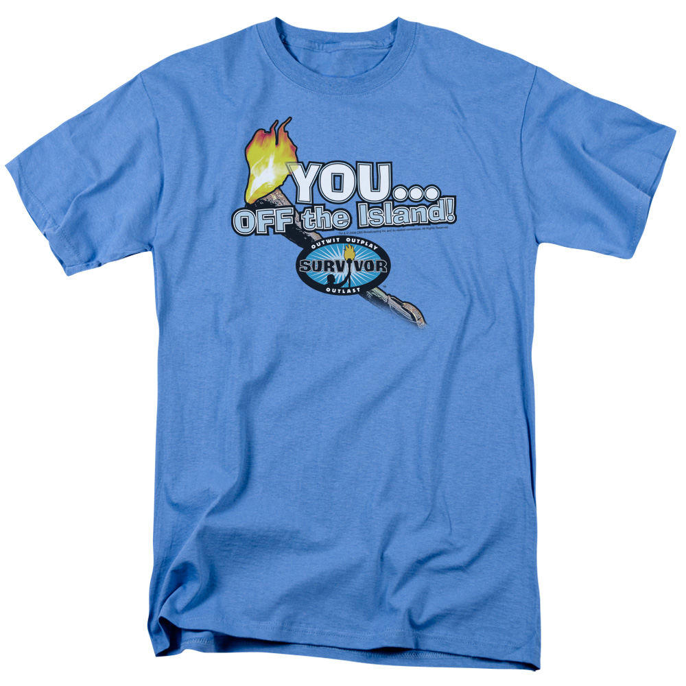 Survivor You Off The Island Mens Short Sleeve Shirt