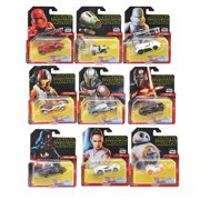 Star Wars Hot Wheels Character Cars Assortment Bundle of 9 Featuring Kylo Ren Rey Darth Vader Sith Trooper BB-8 Poe Dameron Rey Jet Tropoper and The Mandalorian Collectible