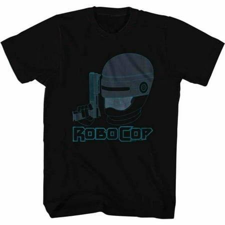 Robocop Movies Faded Blue Adult Short Sleeve T