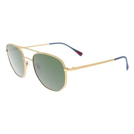 Prada PS 56SS 1BK1I0 Gold Pilot Sunglasses