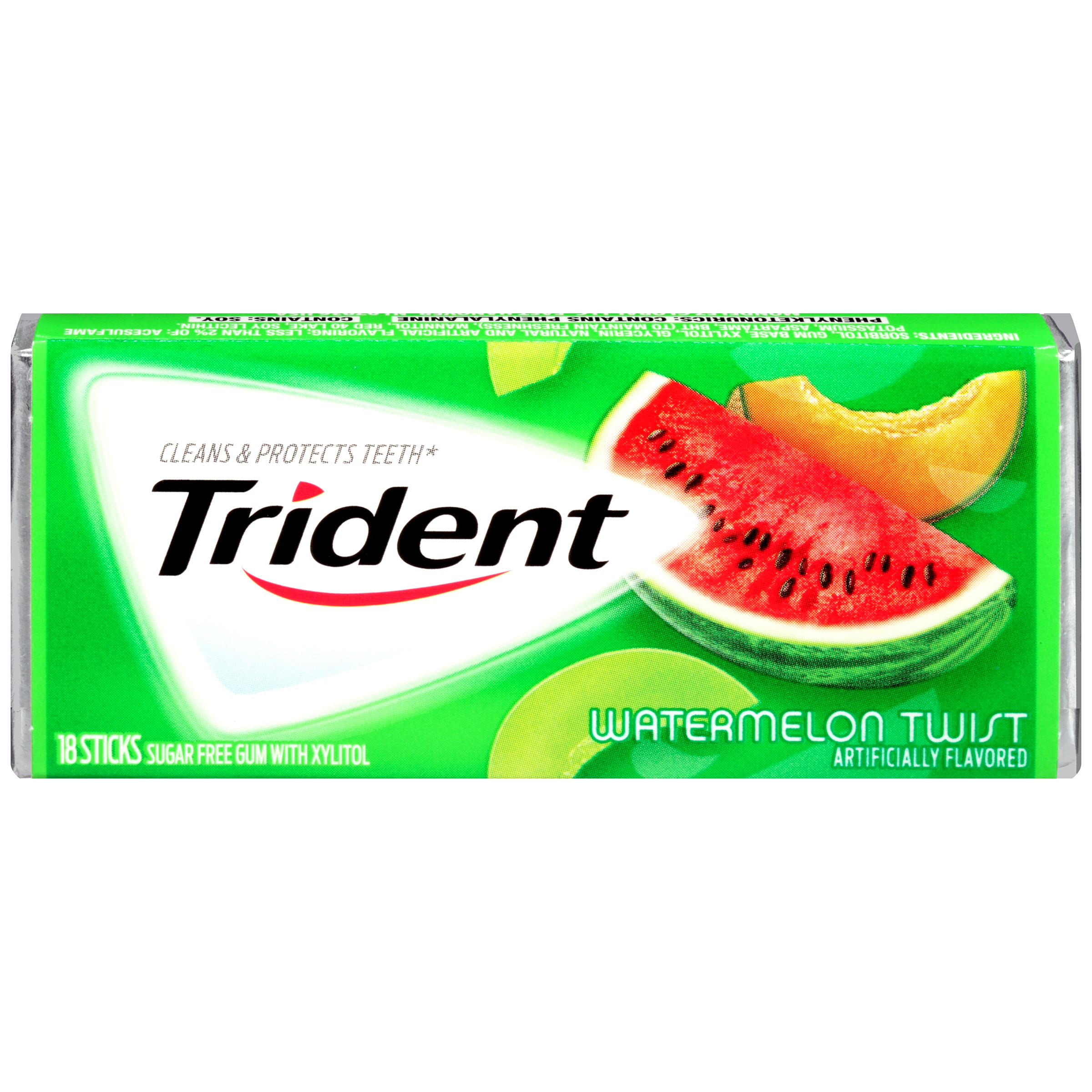 Trident Gum Sugar Free Twist Watermelon - 18 Sticks/Pack, 12 Pack