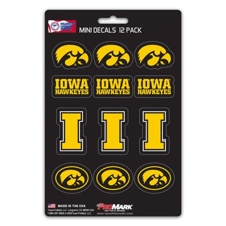 Iowa Hawkeyes Decal Set Mini 12 Pack - Iowa Hawkeyes Team Wall Border