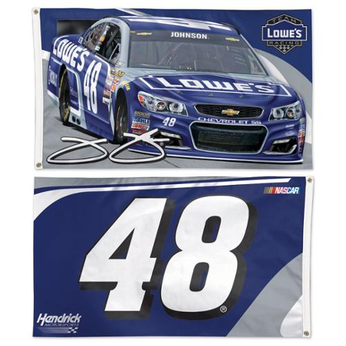 Jimmie Johnson Official NASCAR 3' x 5' Two Sided Banner Flag by Wincraft