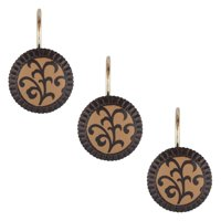 Sherry Kline  Belacour Shower Curtain Hooks (Set of 12) - Cocoa