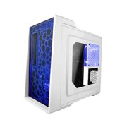 Apevia X-ENERQ-WHT Mid Tower ATX Case with Window (White) Gaming HTPC