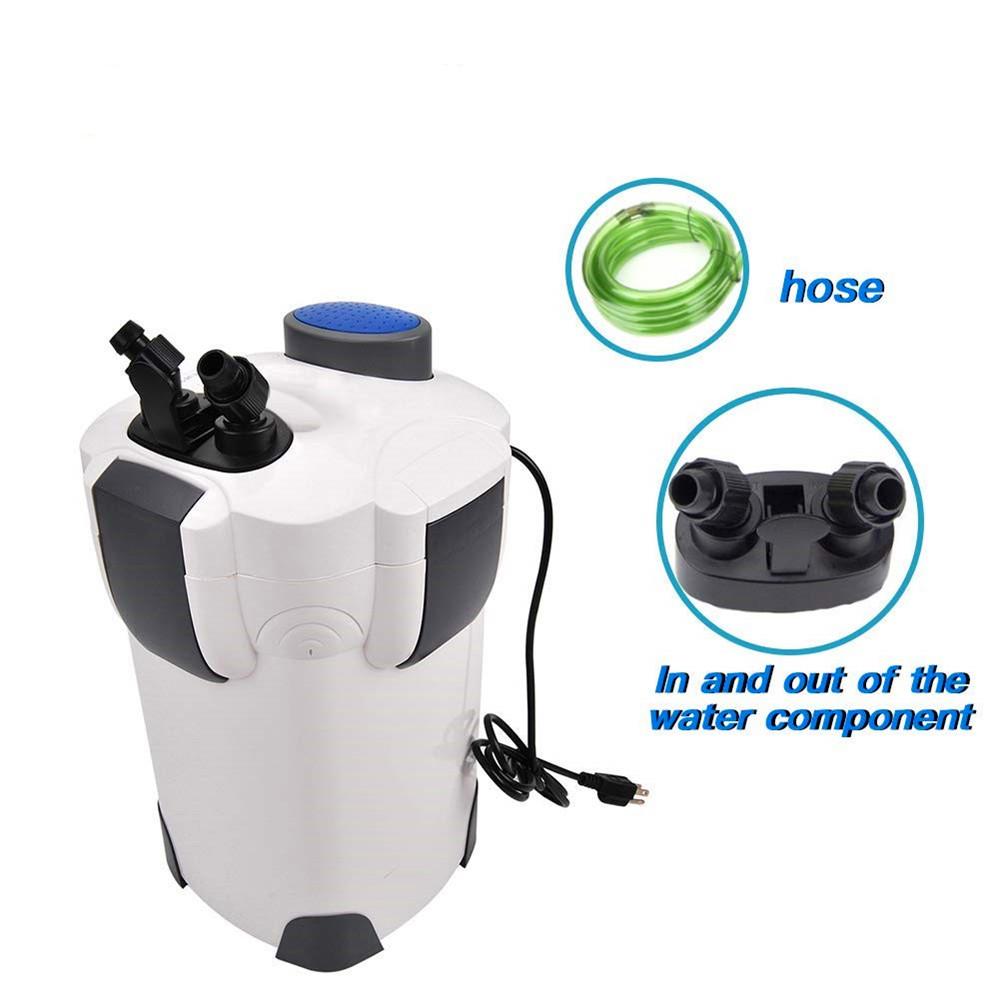 370 GPH Canister Filter Kit with 9-watt UV Sterilizer for Aquarium, Fish Tank