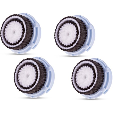 Compatible Replacement Brush Heads for Delicate Skin Prone to Irritations Works with Mia 1, 2, 3, Aria, Pro, PLUS, Smart Profile, Alpha Fit and Radiance Face Cleansing Systems (Four Pack)