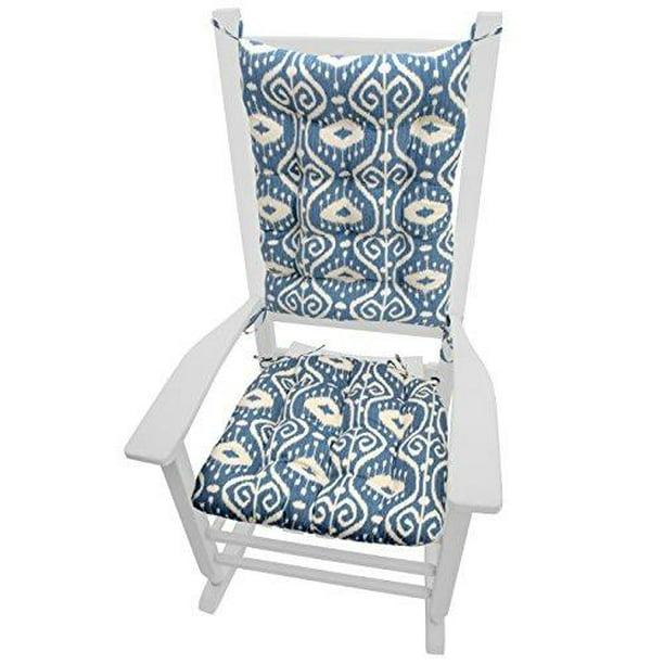 Rocking Chair Cushions Bali Blue Ikat