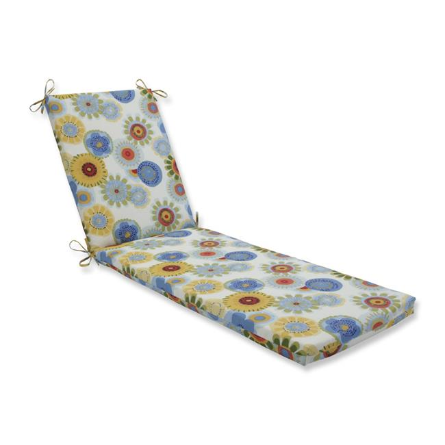 80 x 23 x 3 in. Outdoor & Indoor Crosby Confetti Chaise Lounge Cushion, Blue
