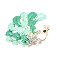 dad20a17d Unique Bargains Green Shiny Rhinestones Inlaid Decorative Brooch Breastpin  Gift for Lady