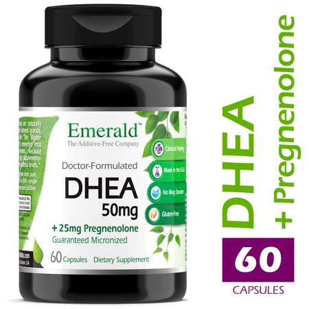Emerald Laboratories (Ultra Botanicals) - DHEA 50mg w/ 25mg Pregnenolone - Helps Balance Hormone Levels for Men/Women, Cognitive Function Support, Increase Metabolism, & Lean Body Mass - 60 Capsules