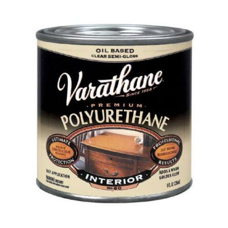 Premium Polished Finish (Rust-Oleum 242175H Varathane 1/2-Pint Clear Gloss Interior Oil-Based Premium Polyurethane Wood)