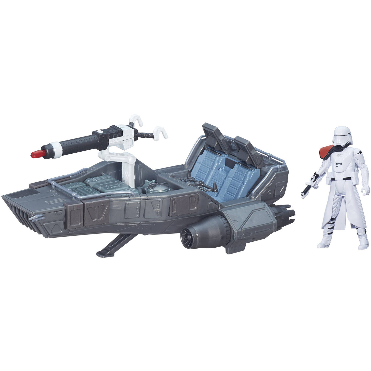 "Star Wars The Force Awakens 3.75"" Vehicle First Order Snowspeeder"