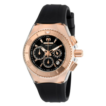 Technomarine Women's TM-115033 Cruise Star Quartz Chronograph Black Dial Watch