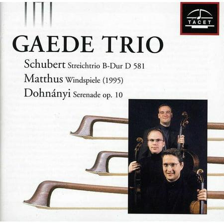 Gaede Trio Plays Schubert