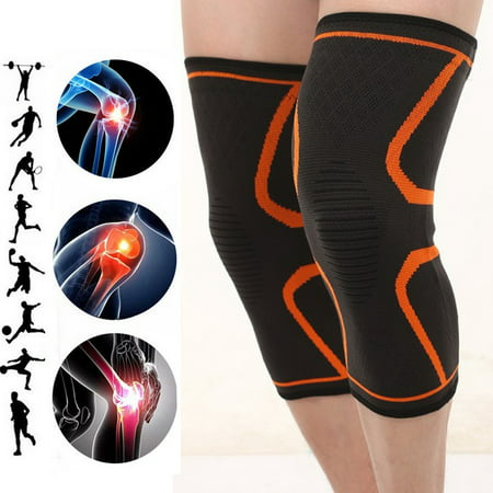 2Pcs Copper Knee Support Compression Sleeve Brace Patella Arthritis Pain Relief Gym (Best Hypermobility Knee Brace)