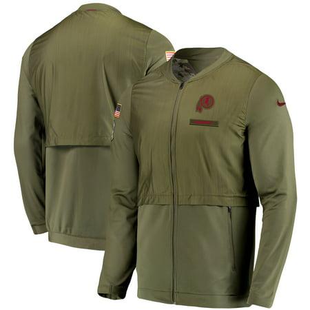 purchase cheap 51a7d ce0ee Washington Redskins Nike Salute to Service Sideline Elite Hybrid Full-Zip  Jacket - Olive