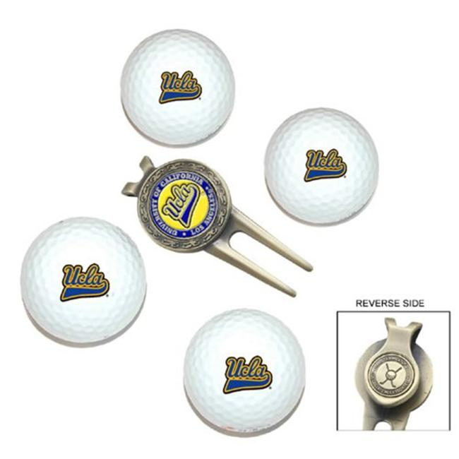 West Virginia Mountaineers Pack of 4 Golf Balls and Divet Tool Gift Set