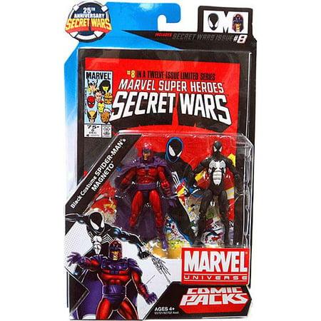 Marvel Magneto - Marvel Universe Magneto & Black Costume Spider-Man Action Figure 2-Pack