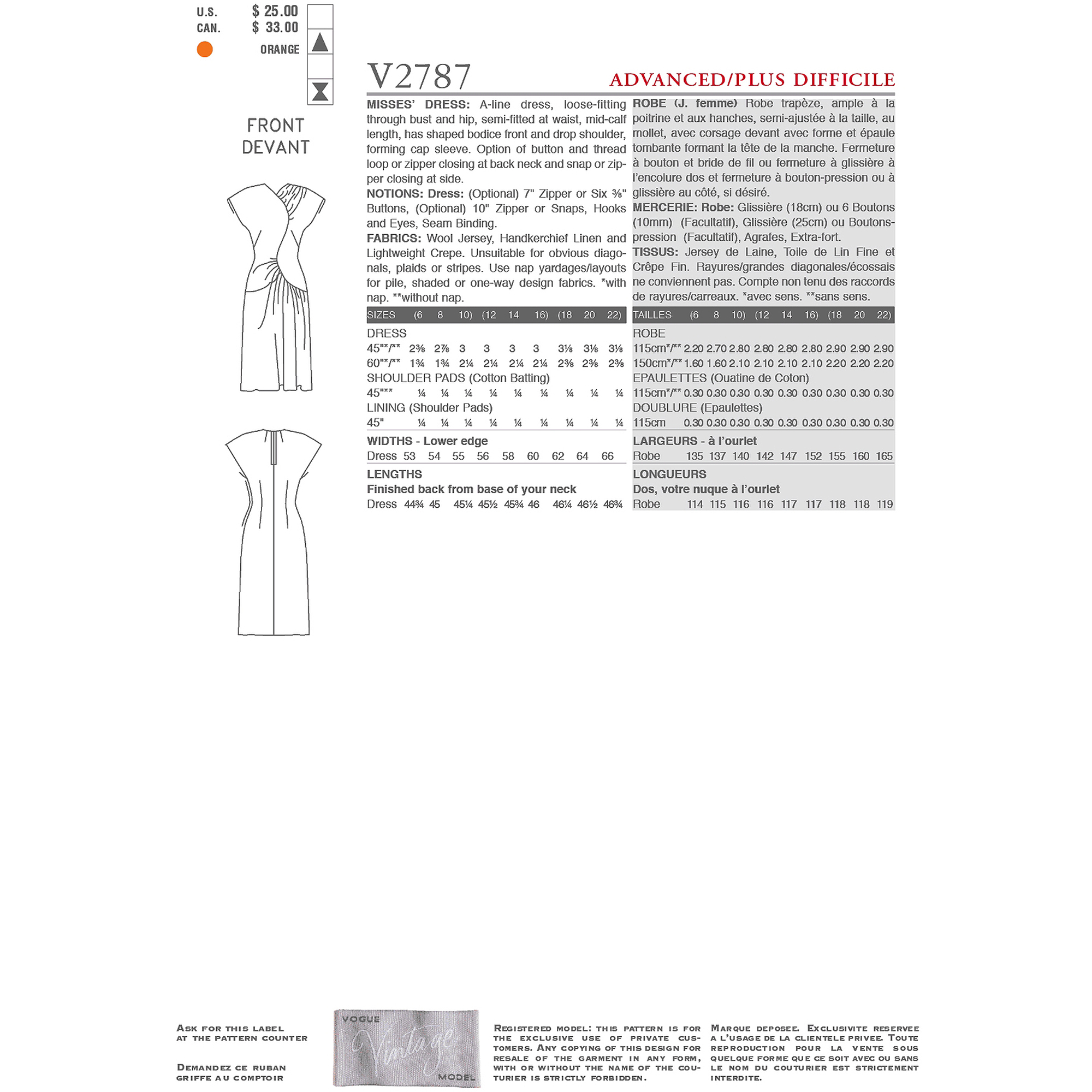 Misses' Dress-6-8-10
