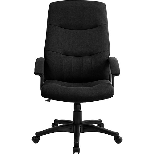 fabric upholstered executive high-back swivel office chair