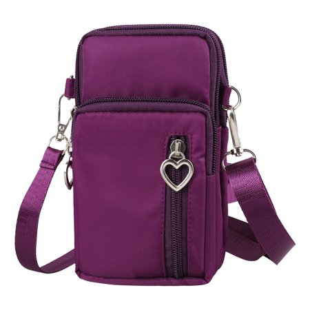 Cell Phone Pouch, EEEKit Waterproof Cellphone Purse Crossbody Shoulder Bag Armband with Detachable Strap for iPhone XS Max XR 8 Plus Galaxy S10 S10+ S9 S9+ Note 8 9 & More