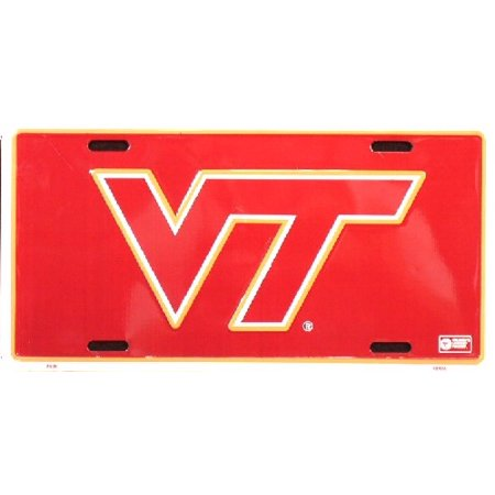 Virginia Tech Hokies Metal - Virginia Tech Hokies embossed metal auto tag