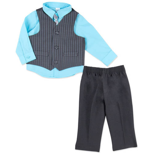 George Newborn Baby Boy 4-Piece Dressy Vest Set