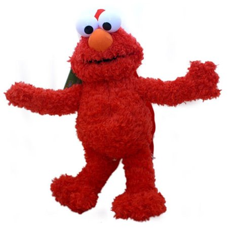 Sesame Street Elmo Plush Doll Backpack Red Muppet Stuffed Toy Bag Licensed NEW