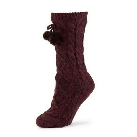 d7849138121 UGG Pom Pom Fleece Lined Womens Crew Sock 1014837