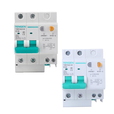 babydream1 230V 2P leakage protective breaker with Overcurrent Protection Over Short Current Leakage Protector - image 6 de 9