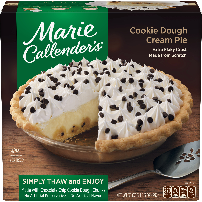 Marie Callender's Chocolate Chip Cookie Dough Cream Pie Frozen Dessert, 35 Ounce
