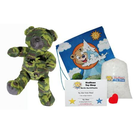 Make Your Own Stuffed Animal GI Camo Bear Kit 16