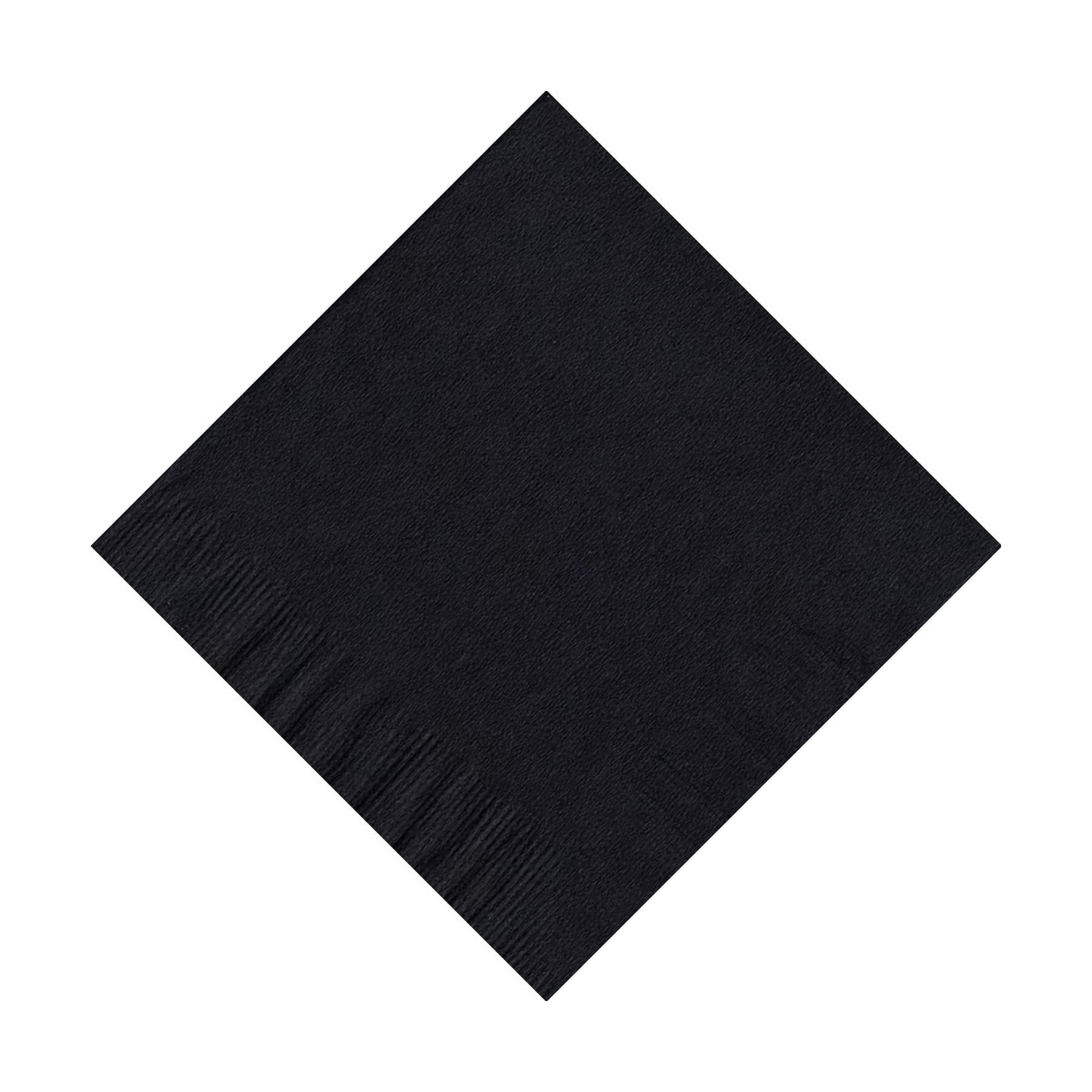 200 (4 Pks of 50) 2 Ply Plain Solid Colors Beverage Cocktail Napkins Paper Black by CREATIVE CONVERTING