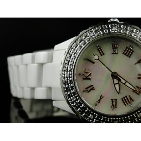 Techno Com Kc Ceramic Diamond Watch 0.12Ct
