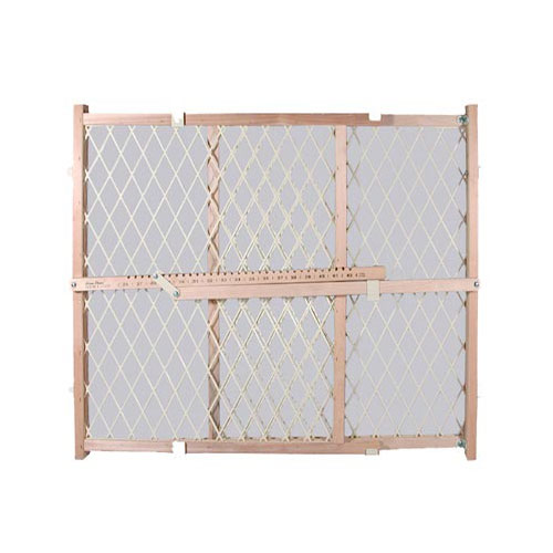 "Pet Select Wood Frame Safety Gate With Plastic Mesh (26-42""W x 24""H)"