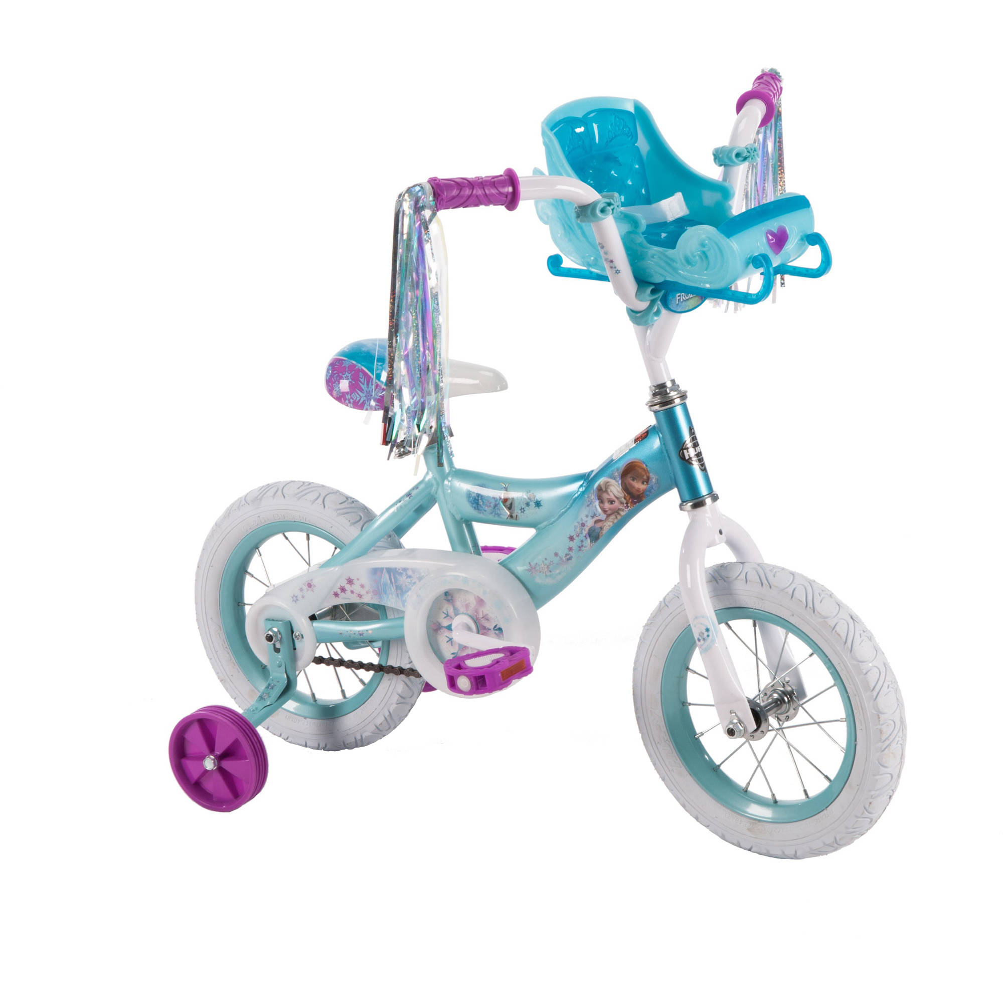 Huffy 12 G Frozen Bike W/ Sleigh Doll Carrier